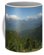 View Of The Rockies From Huckleberry Mountain Glacier National Park Coffee Mug