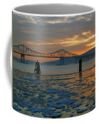Hudson River Icey Sunset Coffee Mug