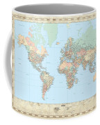 Huge Hi Res Mercator Projection Political World Map   Coffee Mug
