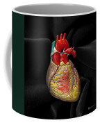 Human Heart On Black Velvet Coffee Mug