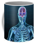 Human Skeleton And Brain, Artwork Coffee Mug