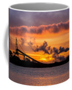 Humboldt Bay Industry At Sunset Coffee Mug
