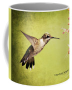Humming Bird In Flight Coffee Mug