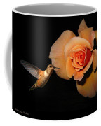 Hummingbird And Orange Rose Coffee Mug