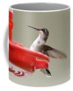 Hummingbird At The Feeder Coffee Mug
