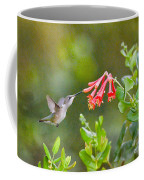 Hummingbird Dives In  Coffee Mug
