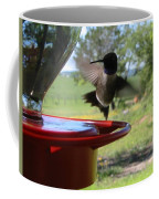Hummingbird Flying To The Feeder Coffee Mug