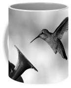Hummingbird In Black And White Coffee Mug