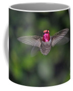 Hummingbird Male Anna's Flapping His Wings Coffee Mug