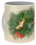Hummingbird - Watercolor Art Coffee Mug