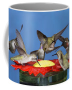 Hummingbirds At Feeder Coffee Mug