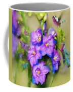 Hummingbirds Butterflies And Flowers Coffee Mug