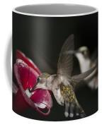 Hummingbirds In Flight Coffee Mug by Nelson Watkins