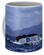 Hump Backed Whale Tail With Cascading Water Coffee Mug