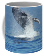 Humpback Whale Breaching Coffee Mug by Bob Christopher