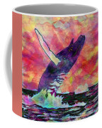 Humpback Whale Digital Color Coffee Mug