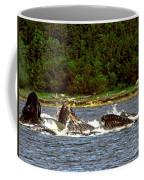 Humpback Whales Feeding Coffee Mug