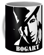 Humphrey Bogart Black And White Pop Art Coffee Mug