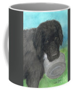 Hungry Newfoundland Dog Canine Animal Pets Art Coffee Mug