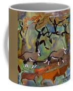 Hunters And Gemsbok Rock Art Coffee Mug