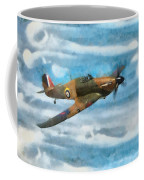 Hurricane Fighter Watercolour Coffee Mug