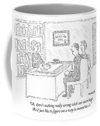 Husband And Wife Sitting At The Desk Coffee Mug