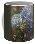 Hydrangea Bouquet At Dawn Coffee Mug