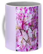 Hydrangea With Bright White Butterfly Coffee Mug