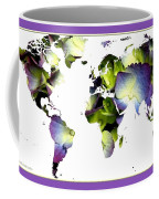 Hydrangea World Map Coffee Mug