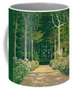Hydrangeas On A Garden Path Coffee Mug