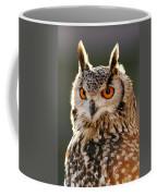 Hypnoteyes  Eurasian Eagle Owl Coffee Mug