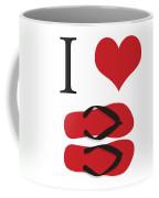 I Love Flip Flops Coffee Mug