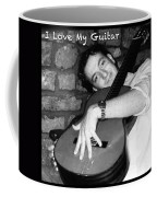 I Love My Guitar Series Bw Coffee Mug