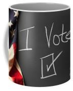 I Voted Sign On Chalkboard Coffee Mug