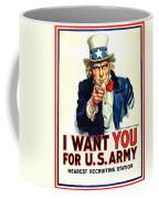 I Want You For U S Army Coffee Mug
