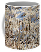Ice Coated Bullrushes Coffee Mug