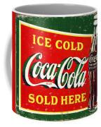 Ice Cold Coca-cola Sold Here Coffee Mug