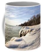 Ice Covered Shores Of Lake Michigan Coffee Mug