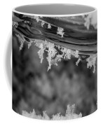 Ice Crystals Frozen In The River Coffee Mug