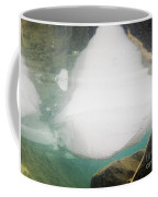 Ice Floats In Shallow Lake With Rock Reflections Coffee Mug