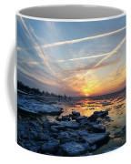 Ice On The Delaware River Coffee Mug