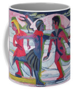 Ice Skaters  Coffee Mug by Ernst Ludwig Kirchner