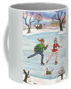 Ice Skaters Coffee Mug