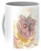 Iced Cup Cake With Sugared Pink Roses Coffee Mug