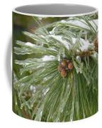 Iced Over Pine Cones Coffee Mug