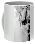 Icicle Black And White Coffee Mug