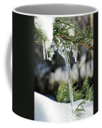 Icicles On Juniper Branch Coffee Mug