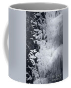 Icy Cliff - Black And White Coffee Mug