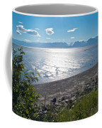 Icy-looking Kachemak Bay In Sunlight From Homer Spit-ak  Coffee Mug