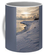Icy Patterns On The Snow - A Lake Shore Morning Coffee Mug